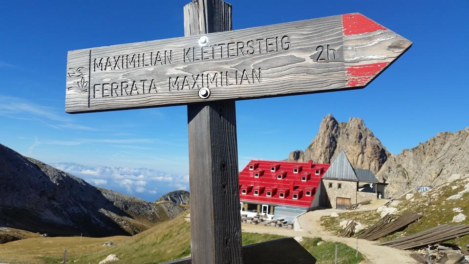 Maximilian Klettersteig : Ferrata maximilian ai denti di terrarossa ferrate